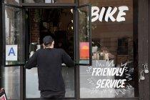 Клієнт служби вікно, Нью-Йорк, США — стокове фото