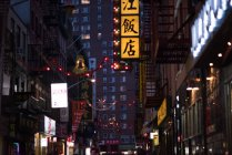 View of Chinatown at nighttime — Stock Photo