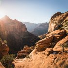 Vista panorámica del Parque Nacional de Zion - foto de stock