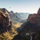 Angels Landing, Parque Nacional de Zion - foto de stock
