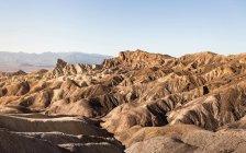 Zabriskie Point paisagem de formação de rocha — Fotografia de Stock