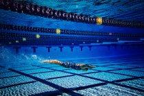 Nuotatore subacqueo in piscina — Foto stock