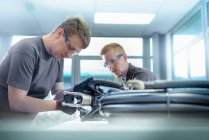 Apprentice electrical engineers — Stock Photo