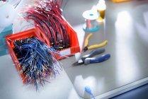 Componente del cavo nella fabbrica di cavi — Foto stock