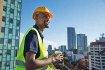Bauarbeiter im freien — Stockfoto