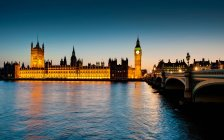 Houses of Parliament at dusk — Stock Photo