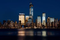 Вид на Манхэттен с Джерси-Сити — стоковое фото