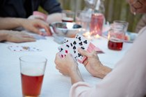 People playing card game — Stock Photo