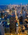 Veduta aerea del centro di chicago — Foto stock