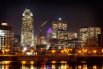 Montreal skyline at night — Stock Photo