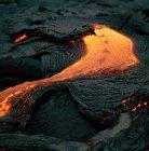 Lavastrom am aktiven Vulkan — Stockfoto