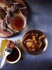 Lammkoteletts mit Minzgelee glasiert — Stockfoto