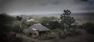 Haus- und Gartenlandschaft — Stockfoto