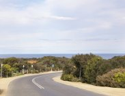 Empty coastal road — Stock Photo