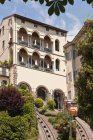 Low angle view of Ornate building on hill, lombardy, italy — Stock Photo