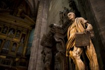 Statue inside Milan Cathedral — Stock Photo