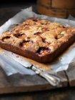 Tablett mit gebackener Früchtekuchen — Stockfoto