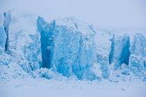 Vista del ghiacciaio innevato gigante — Foto stock