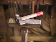 Close up of Hammer in cooperage — Stock Photo