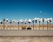 Cajas de correos en fila - foto de stock