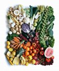 Produce arranged in square — Stock Photo
