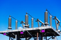 Transformer station with blue sky — Stock Photo