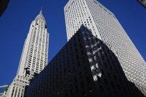 Chrysler building low-angle view, new york, usa — Stockfoto
