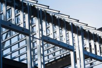 Construction frame of steel girders — Stock Photo