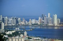 Aerial view of Panama city at daytime — Stock Photo