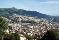 Aerial view of Quito ecuador — Stock Photo