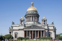 Front view of St Isaac cathedral in St. Petersburg, Russia — Stock Photo