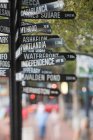 Close up of Signpost in portland — Stock Photo