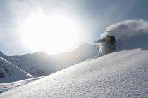 Man skiing off piste in Kuhtai , Tirol, Austria — Stock Photo