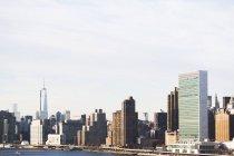 Paisagem urbana Rio East e Manhattan, Nova Iorque, EUA — Fotografia de Stock