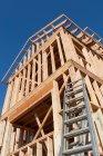 Struttura in legno per costruzioni — Foto stock