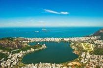 Vista della Lagoa Rodrigo de Freitas — Foto stock