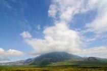 Tolbachik Volcano in clouds — Stock Photo