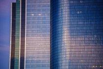 Facades of skyscraper buildings at dusk, Los Angeles, California, USA — Stock Photo