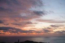 Sunset over ocean, San Diego, California, USA — Stock Photo
