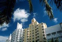 Vista de edificios en south beach miami - foto de stock