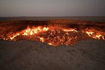 Darvaza gas crater — Stock Photo
