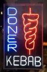 Kebab shop sign — Stock Photo