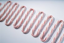 Candy canes in row — Stock Photo