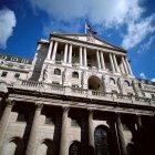 Нижній подання банку Англії — стокове фото