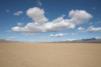 Пустынный пейзаж с пасмурное небо — стоковое фото