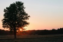 Pôr do sol sobre a paisagem — Fotografia de Stock