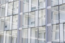 Glass fronted hotel corridors and windows — Stock Photo