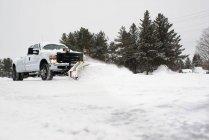 Camion di compensazione neve, bobcaygeon, Canada — Foto stock