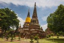 Temple de Wat Yai Chai Mongkhon, Ayutthaya, Thaïlande — Photo de stock