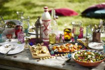 Closeup shot of moroccan summer picnic during daytime — Stock Photo